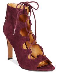 Nine West - Purple The Unfrgetabl Lace-up Dress Sandals - Lyst