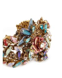 Erickson Beamon | Multicolor Iron Butterfly' Pearlescent Appliqué Mix Crystal Bracelet | Lyst