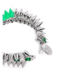 Venna | Multicolor Crystal Spike Bracelet | Lyst