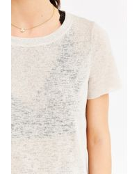 Project Social T - Natural Isabelle Crew-neck Cropped Top - Lyst