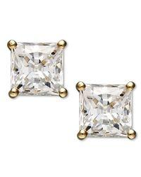 Arabella | Metallic Swarovski Zirconia Princess Cut Stud Earrings (2-3/4 Ct. T.w.) | Lyst