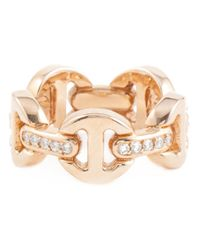 Hoorsenbuhs - Metallic 'tri-link' Ring - Lyst