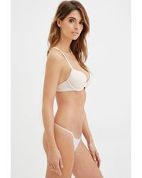 Forever 21 | White Lacy Microfiber Push-up Bra | Lyst