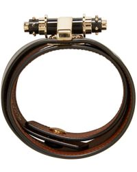 Givenchy - Black Leather Obsedia Bracelet - Lyst