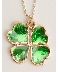 Aurelie Bidermann - Green Clover Necklace - Lyst