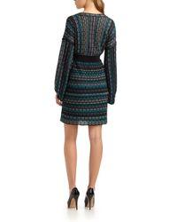 Laundry by Shelli Segal | Blue Multistitch Sweater Dress | Lyst