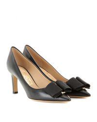 Ferragamo - Black Mimi 70 Embellished Leather Pumps - Lyst