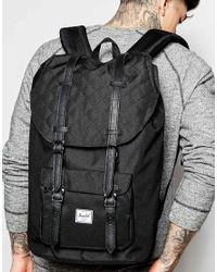 Herschel Supply Co. - Black Little America Quilted Backpack 23l for Men - Lyst