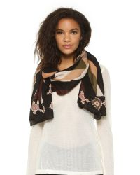 Theodora & Callum | Green Deer Valley Scarf - Beige Multi | Lyst