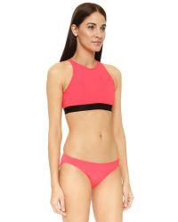 Beth Richards | Red Fel Bikini Top | Lyst