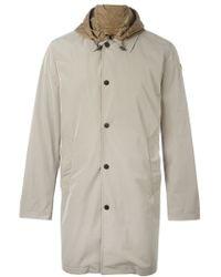 Moncler - Gray Hooded Raincoat for Men - Lyst