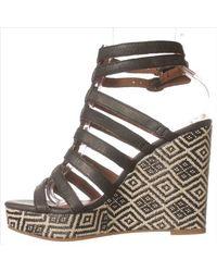 Lucky Brand | Black Lucky Labelle Wedge Sandal | Lyst
