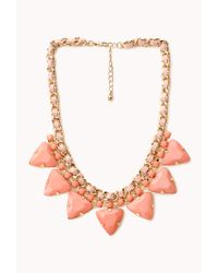 Forever 21 - Orange Pretty Tough Geo Necklace - Lyst