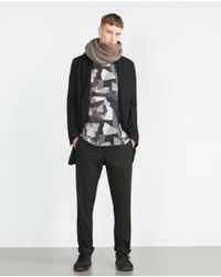 Zara | Gray Printed T-shirt for Men | Lyst