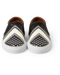Givenchy | Black Bandana-Print Leather Slip-Ons for Men | Lyst