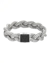 John Hardy | Metallic Classic Chain Medium Braided Silver Bracelet | Lyst