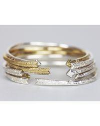 Odette New York   Metallic Arrow Cuff Gold   Lyst