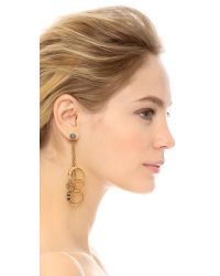 Erickson Beamon - Metallic Ringtone Earrings - Lyst