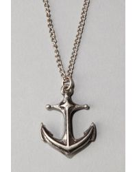 Urban Outfitters - Metallic Anchor Pendant Necklace for Men - Lyst