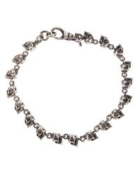 Emanuele Bicocchi | Metallic Skull Charm Bracelet | Lyst