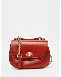 Mango | Brown Fold Over Saddle Bag | Lyst