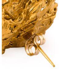 Alighieri - Metallic Pearl Stud Earrings - Lyst