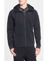 Nike | Black Water Repellent Tech Fleece Windrunner Jacket for Men | Lyst