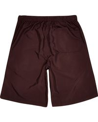 River Island - Brown Burgundy Long Shorts for Men - Lyst