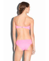 MILLY - Pink Solid Elba Bandeau Bikini Top - Lyst