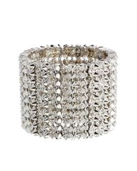 French Connection | Metallic Spike Stone Stretch Bracelet | Lyst