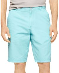Calvin Klein | Blue Bedford Chino Shorts for Men | Lyst