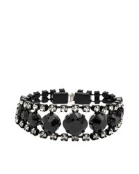 Helene Zubeldia | Black Two-toned Crystal Bracelet | Lyst