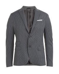 Neil Barrett | Gray Pinstriped Wool Blend Blazer - Stripes for Men | Lyst
