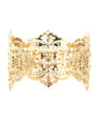 Iam By Ileana Makri - Metallic Chantilly Lace Cuff Bracelet - Lyst