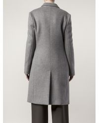 Stella McCartney - Gray Coat with Zip Side Pockets - Lyst
