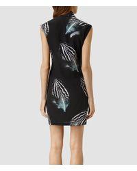 AllSaints | Green Nast Piuma Dress | Lyst