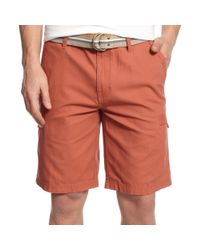 9cdcf1f09a Lyst - Weatherproof Vintage Canvas Belted Cargo Shorts in Red for Men
