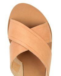 Ancient Greek Sandals - Natural Thais Leather Platform Sandals - Lyst