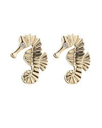 Sophie Bille Brahe - Metallic 18-Karat Gold Seahorse Earrings - Lyst