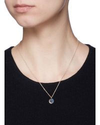 Pamela Love - Blue 'reversible Moon Phase' Sapphire 18k Yellow Gold Pendant - Lyst