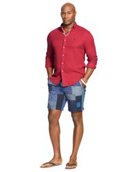 Polo Ralph Lauren - Red Big And Tall Solid Double-faced Shirt for Men - Lyst