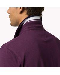 Tommy Hilfiger - Purple Cotton Pique Regular Fit Polo for Men - Lyst
