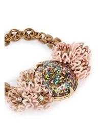 Lulu Frost - Multicolor 'vivien' Glitter Dome Flower Chain Bracelet - Lyst