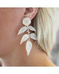 Irene Neuwirth - White Carved Opal Leaf Earrings - Lyst