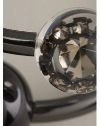 Emporio Armani - Black Torque Bracelet - Lyst