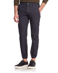 VINCE | Blue City Cotton-blend Joggers for Men | Lyst