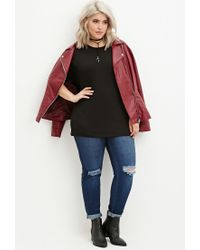 Forever 21 | Black Plus Size Classic Raglan Tee | Lyst