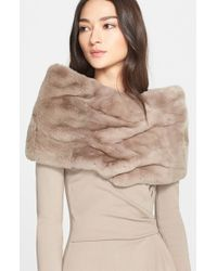 Armani | Brown Genuine Rabbit Fur Collar | Lyst