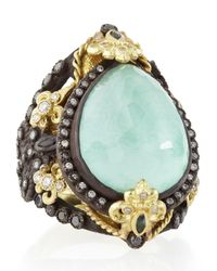 Armenta | Old World Pear Green Turquoise Doublet Ring | Lyst