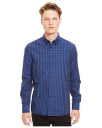 Kenneth Cole Reaction | Blue Checked Button-down Shirt for Men | Lyst